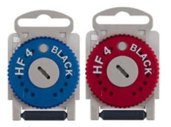 2x Hörerfilter HF 4 BLACK Cerumenschutz blau/rot